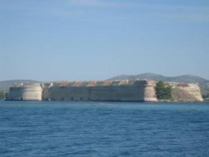 St. Nicholas fortress in front of Sibenik